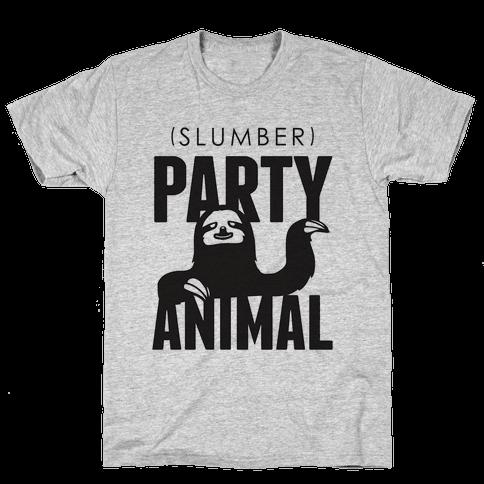 Slumber Party Animal Mens T-Shirt
