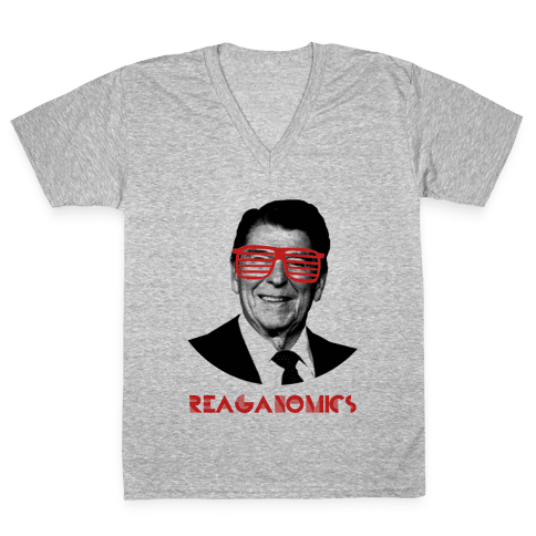 Reaganomics V-Neck Tee Shirt