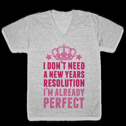 I'm Already Perfect V-Neck Tee Shirt