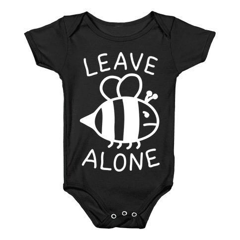 Leave Bee Alone Baby Onesy