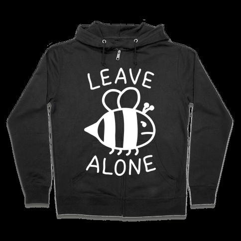 Leave Bee Alone Zip Hoodie