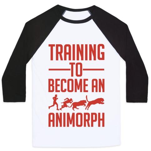 Training To Become An Animorph Baseball Tee