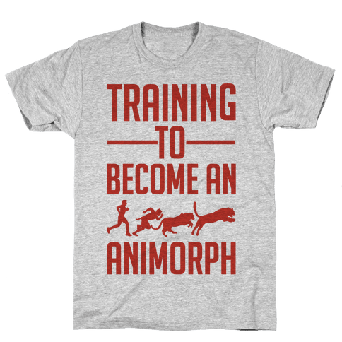 Training To Become An Animorph Mens T-Shirt