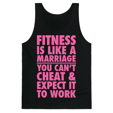Fitness Is Like Marriage Tank Top