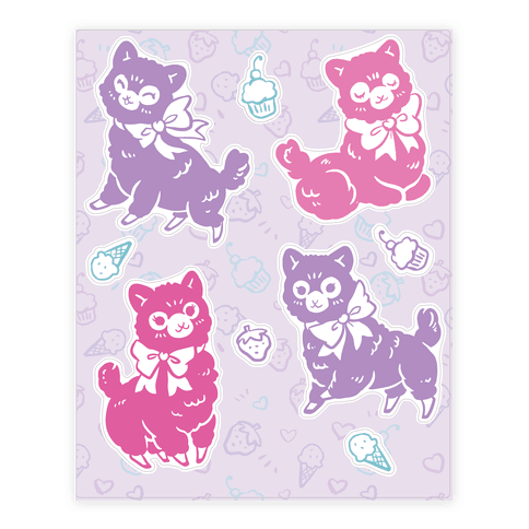 Alpaca Sticker and Decal Sheet