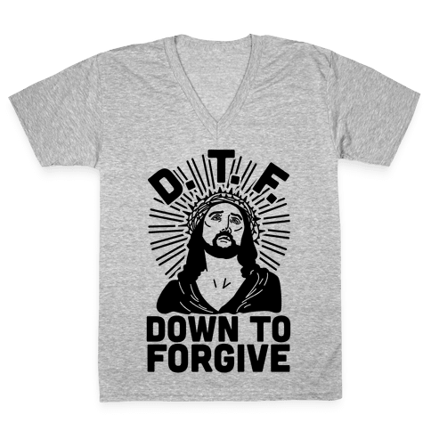 D.T.F. Jesus V-Neck Tee Shirt