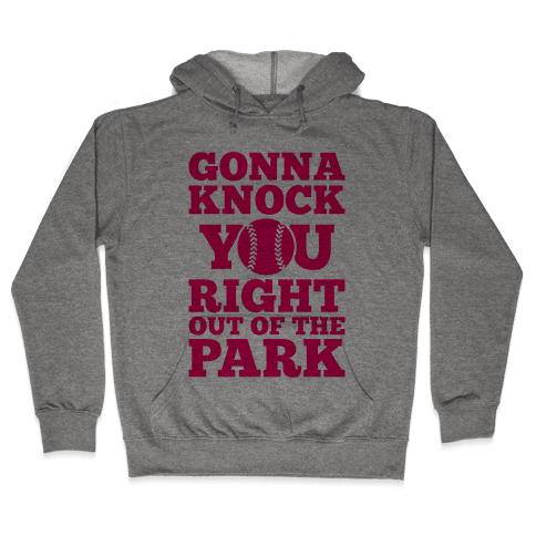 Gonna Knock You Right Out Of The Park Hooded Sweatshirt