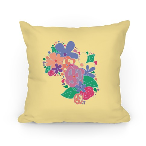 Flower Garden Pillow (Yellow) Pillow