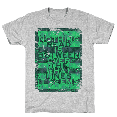 Read Between the Lines (junior) Mens T-Shirt
