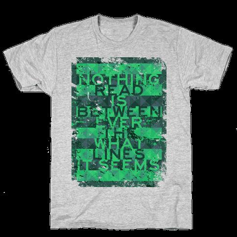 Read Between the Lines (junior) Mens T-Shirt