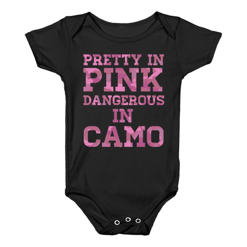 Dangerous in Camo Baby Onesy