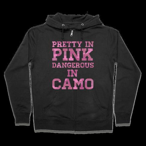 Dangerous in Camo Zip Hoodie