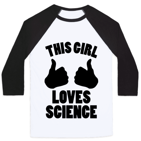 This Girl Loves Science Baseball Tee