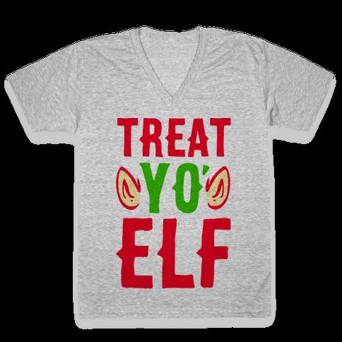 Treat Yo' Elf V-Neck Tee Shirt