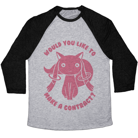 Would You Like To Make A Contract? Baseball Tee