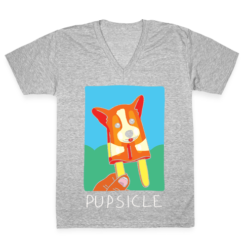 Pupsicle V-Neck Tee Shirt