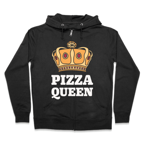Pizza Queen Zip Hoodie
