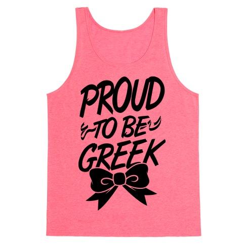 Proud To Be Greek Tank Top