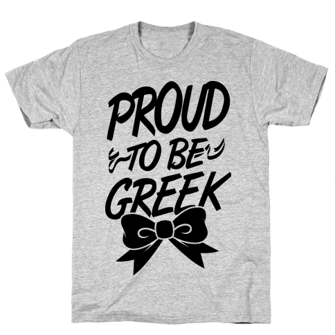 Proud To Be Greek Mens T-Shirt