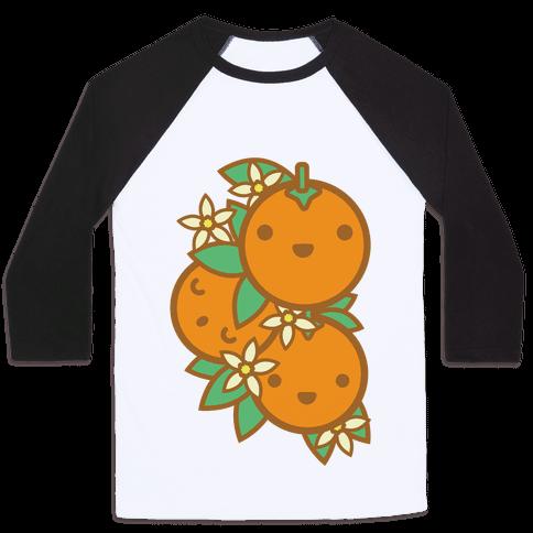 Kawaii Oranges Baseball Tee