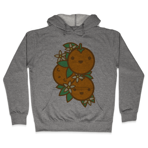 Kawaii Oranges Hooded Sweatshirt