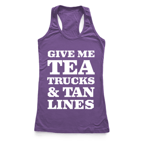 Tea Trucks & Tanlines Racerback Tank Top