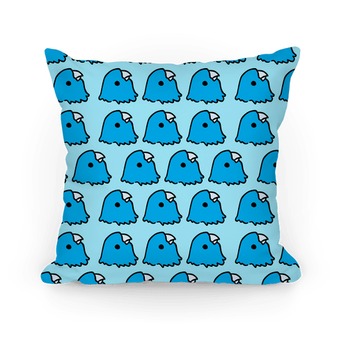 Petey the Parakeet Blue Pattern Pillow