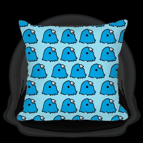Petey the Parakeet Blue Pattern Pillow