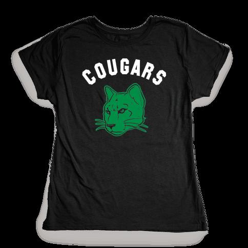 Cougar Green Black & White  Womens T-Shirt