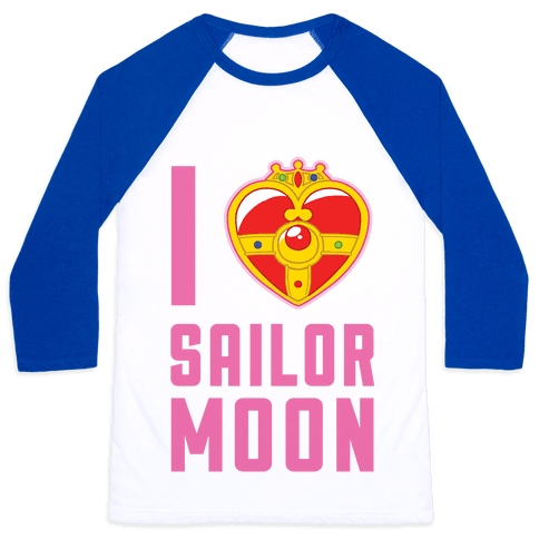 I Heart Sailor Moon Baseball Tee