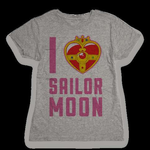 I Heart Sailor Moon Womens T-Shirt