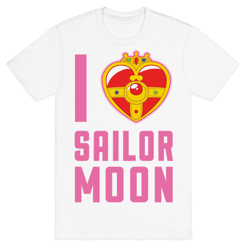 I Heart Sailor Moon Mens T-Shirt