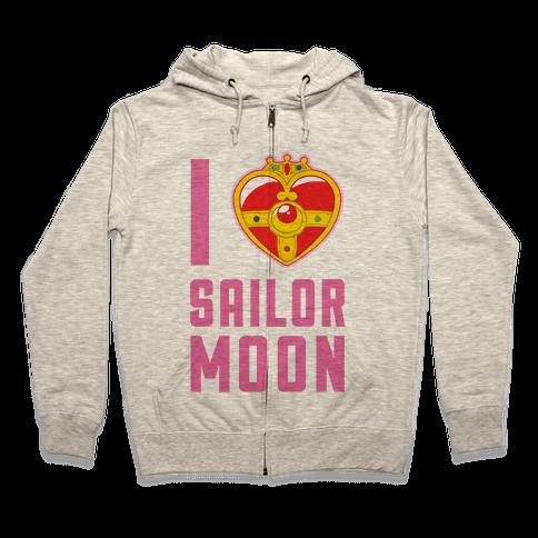 I Heart Sailor Moon Zip Hoodie