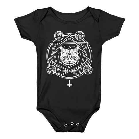 Witch's Cat: The Elements Baby Onesy