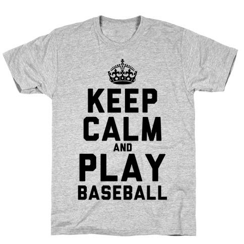 Keep Calm and Play Baseball (Tank) T-Shirt