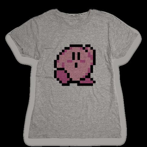 8-Bit Kirby Womens T-Shirt