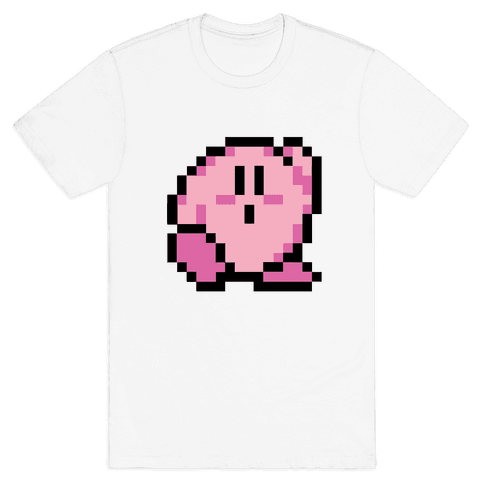 8-Bit Kirby Mens T-Shirt