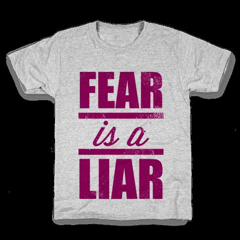 Fear Is A Liar (Tank) Kids T-Shirt