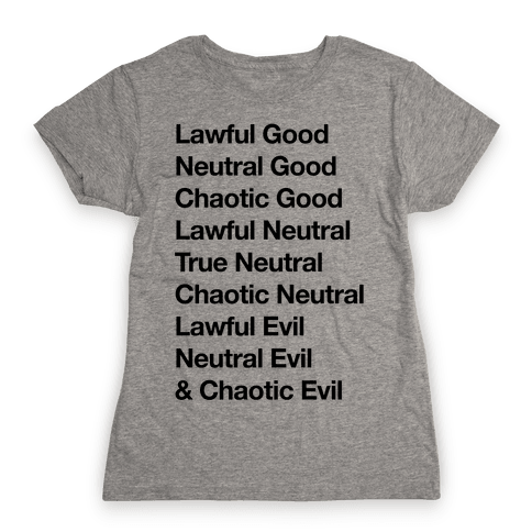 The Alignments (D&D) Womens T-Shirt