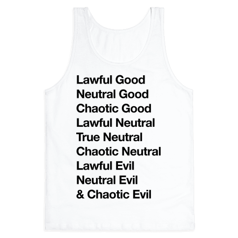 The Alignments (D&D) Tank Top
