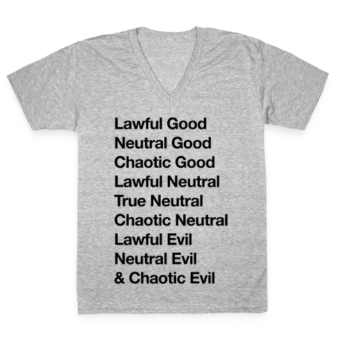The Alignments (D&D) V-Neck Tee Shirt
