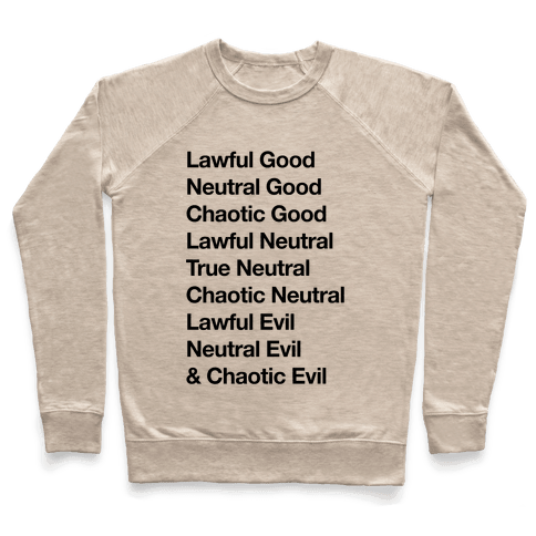 The Alignments (D&D) Pullover