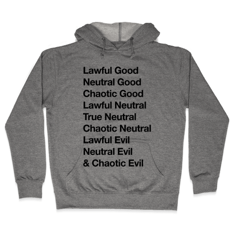 The Alignments (D&D) Hooded Sweatshirt