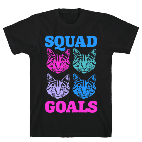 Cat Squad Goals Mens T-Shirt