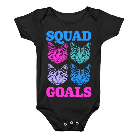 Cat Squad Goals Baby Onesy
