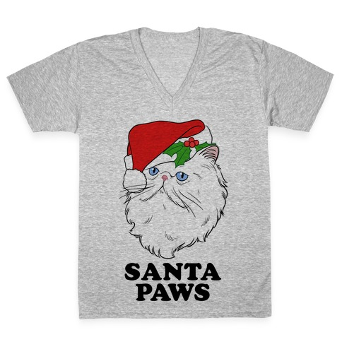 Santa Paws V-Neck Tee Shirt