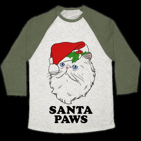 Santa Paws Baseball Tee