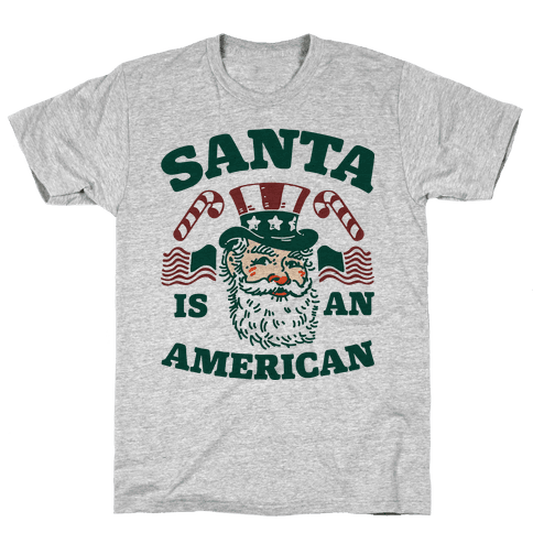 Santa Is An American Mens T-Shirt