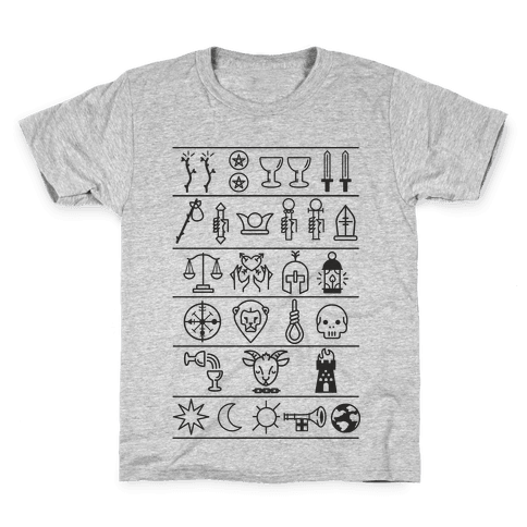 Tarot Card Icons Kids T-Shirt
