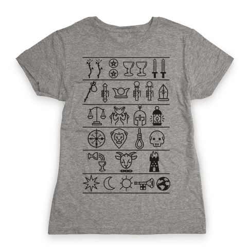 Tarot Card Icons Womens T-Shirt